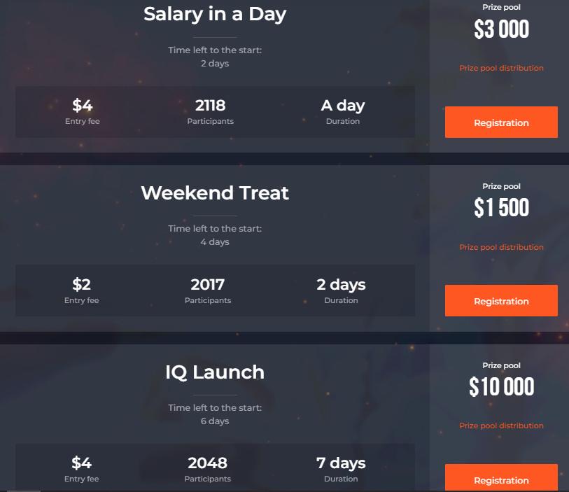 بطولات تداول IQ Option - تجمع جوائز يصل إلى 50،000 دولار